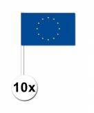 Zwaaivlaggetjes europa 10 stuks