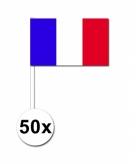 Zwaaivlaggetjes frankrijk 50 stuks