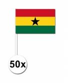 Zwaaivlaggetjes ghana 50 stuks