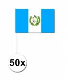Zwaaivlaggetjes guatemala 50 stuks