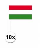 Zwaaivlaggetjes hongarije 10 stuks