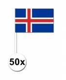 Zwaaivlaggetjes ijsland 50 stuks