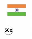 Zwaaivlaggetjes india 50 stuks