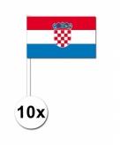 Zwaaivlaggetjes kroatie 10 stuks