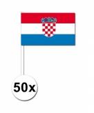 Zwaaivlaggetjes kroatie 50 stuks