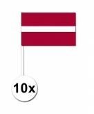 Zwaaivlaggetjes letland 10 stuks