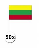Zwaaivlaggetjes litouwen 50 stuks