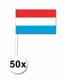Zwaaivlaggetjes luxemburg 50 stuks