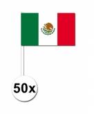 Zwaaivlaggetjes mexico 50 stuks