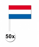 Zwaaivlaggetjes nederland 50 stuks