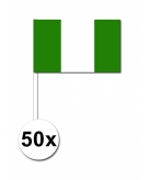 Zwaaivlaggetjes nigeria 50 stuks
