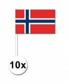 Zwaaivlaggetjes noorwegen 10 stuks