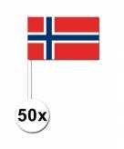 Zwaaivlaggetjes noorwegen 50 stuks