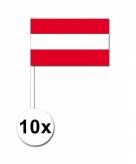 Zwaaivlaggetjes oostenrijk 10 stuks