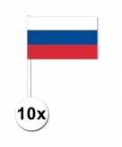 Zwaaivlaggetjes rusland 10 stuks