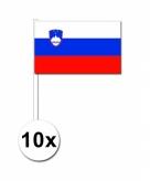 Zwaaivlaggetjes slovenie 10 stuks