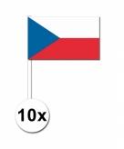 Zwaaivlaggetjes tsjechie 10 stuks