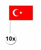 Zwaaivlaggetjes turkije 10 stuks