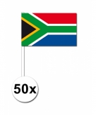 Zwaaivlaggetjes zuid afrika 50 stuks