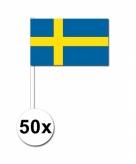 Zwaaivlaggetjes zweden 50 stuks
