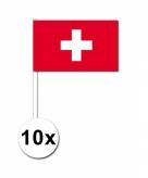Zwaaivlaggetjes zwitserland 10 stuks