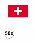 Zwaaivlaggetjes zwitserland 50 stuks