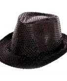 Zwart al capone hoedje