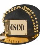 Zwart met gouden disco petten
