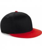 Zwart met rode kinder snapback cap