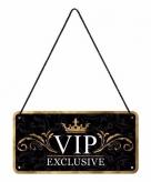 Zwart vip exclusive ophangbordje