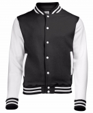 Zwart wit jacket met drukknopen