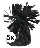 Zwarte ballonnen gewichten 5 stuks