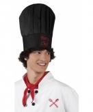 Zwarte chefkok muts party chef