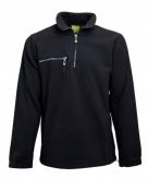 Zwarte fleece trui met ritskraag voor volwassenen