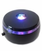 Zwarte glazen bol houder met licht 8 cm