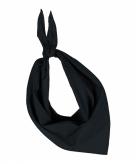 Zwarte hals zakdoeken bandana style