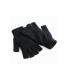 Zwarte handschoenen vingerloos