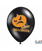 Zwarte happy halloween feestballonnen 30 cm