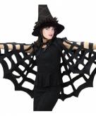 Zwarte heksen cape