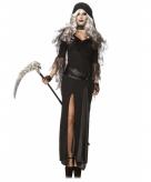 Zwarte magere hein kostuum voor dames