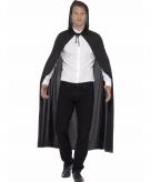Zwarte mantel met capuchon