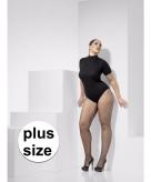 Zwarte net panty plus size