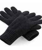 Zwarte polyacryl handschoenen