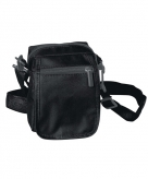 Zwarte schoudertasjes 15 cm