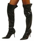 Zwarte sexy laarshoezen voor vrouwen