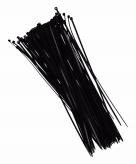 Zwarte tiewraps 28 cm 100 stuks