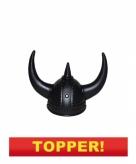 Zwarte viking helm volwassenen 59cm 10049658