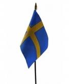 Zweden vlaggetje polyester