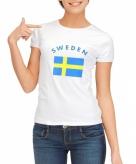 Zweedse vlag t-shirt voor dames