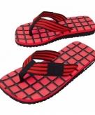 Zwembad teenslippers zwart rood voor dames
